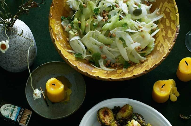 FENNEL & CELERY SALAD WITH OLIVES & PINENUTS