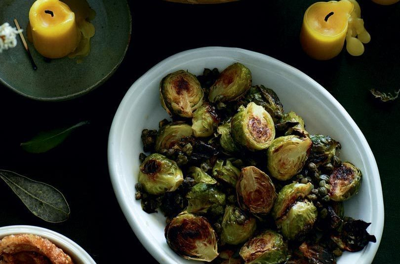 OVEN-ROASTED BRUSSELS SPROUTS WITH CRISP CAPERS