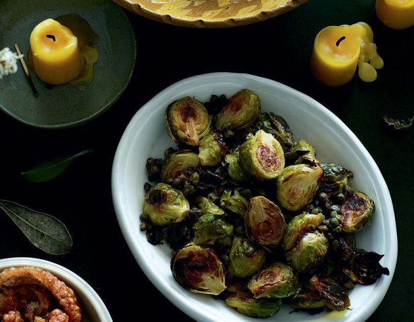 Oven Roasted Brussels Sprouts With Crisp Capers Cuisine For The Love Of New Zealand Food