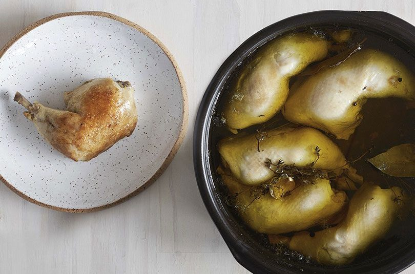 This weekend / make confit chicken