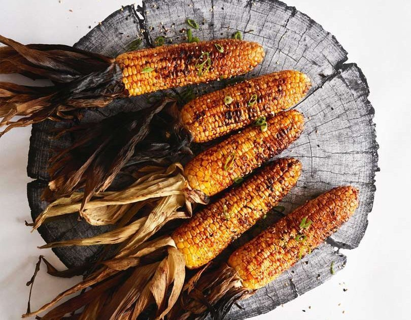 CHILLI-SPIKED GRILLED CORN