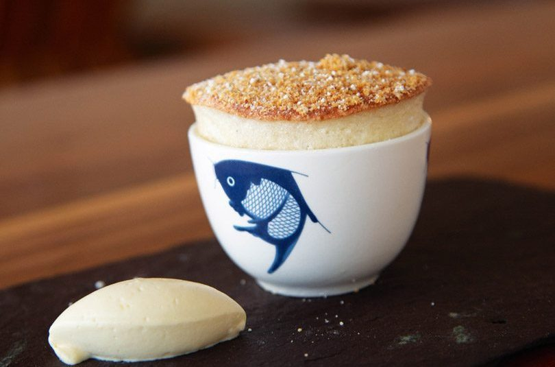 PRESERVED PEAR SOUFFLE & CREAM