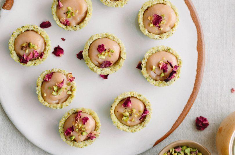 Rhubarb & Rose Curd Tarts