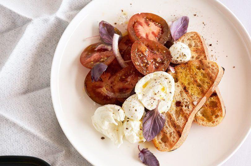 Purple Tomato & Basil Salad