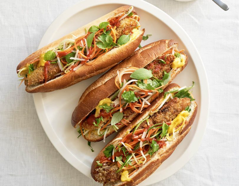 Crumbed Lamb's Liver Banh Mi with Nuoc Cham Mayonnaise