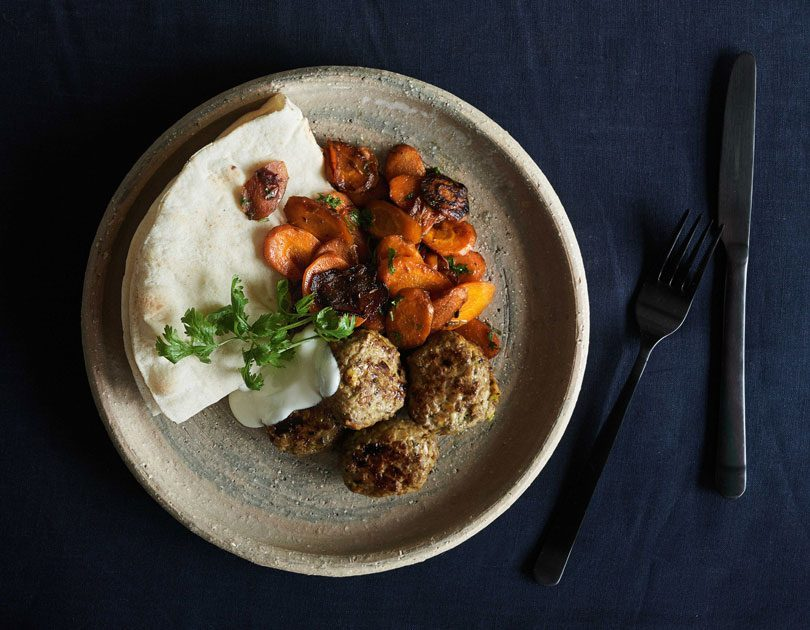 TURKISH-SPICED LAMB PATTIES & WARM CARROT SALAD