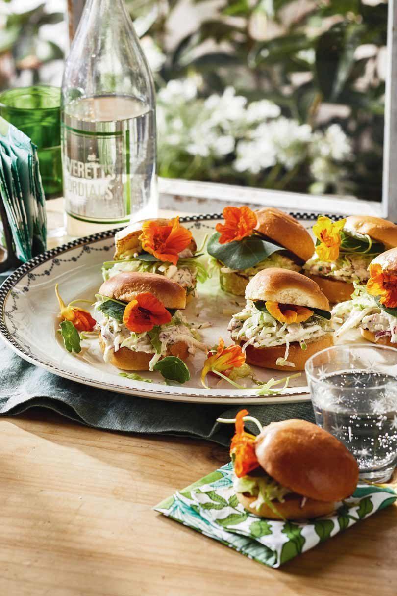 Crab & Nasturtium Sandwiches