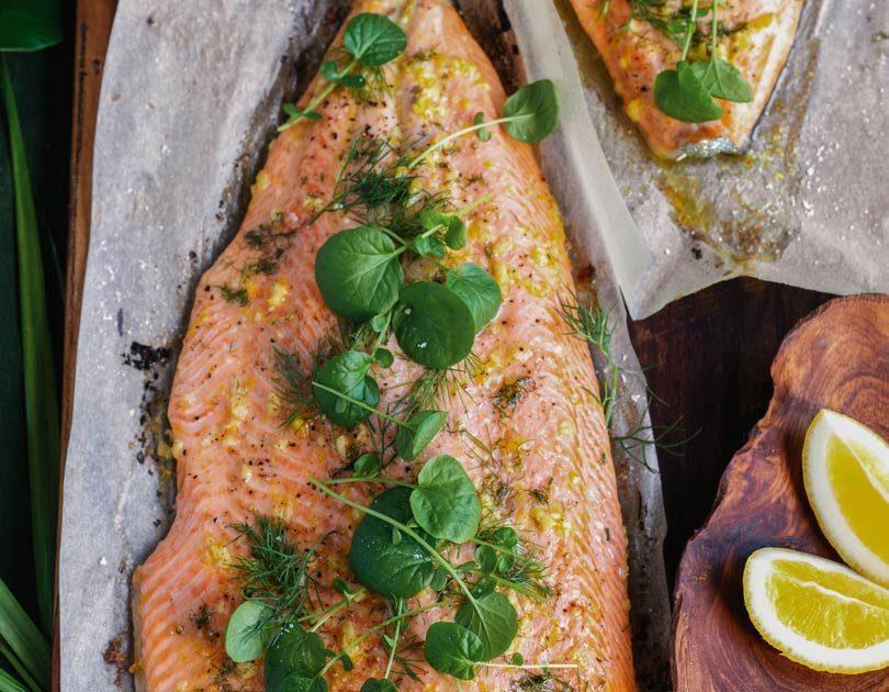 Flash-Roasted Lemon & Herby Side of Salmon