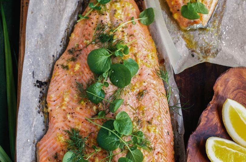 Flash-Roasted Lemon & Herby Side of Salmon