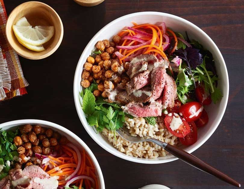 Lamb & Spiced Chickpea Salad Bowl