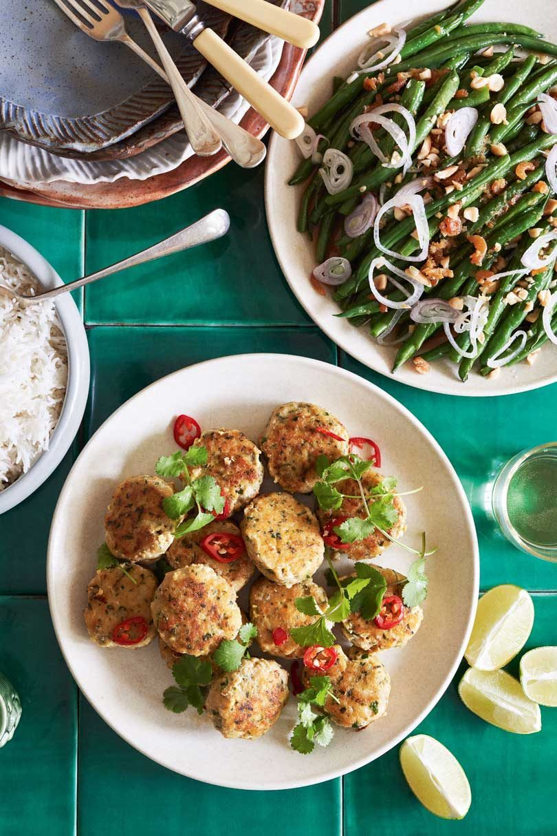 Thai Fish Cakes with Green Bean & Dried Shrimp Salad
