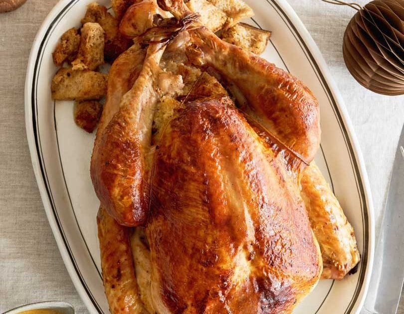 Roast Turkey with Garlic Sourdough Stuffing