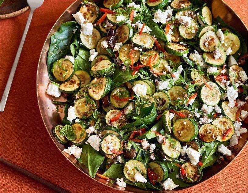 Zucchini, Chilli, Mint & Feta Salad