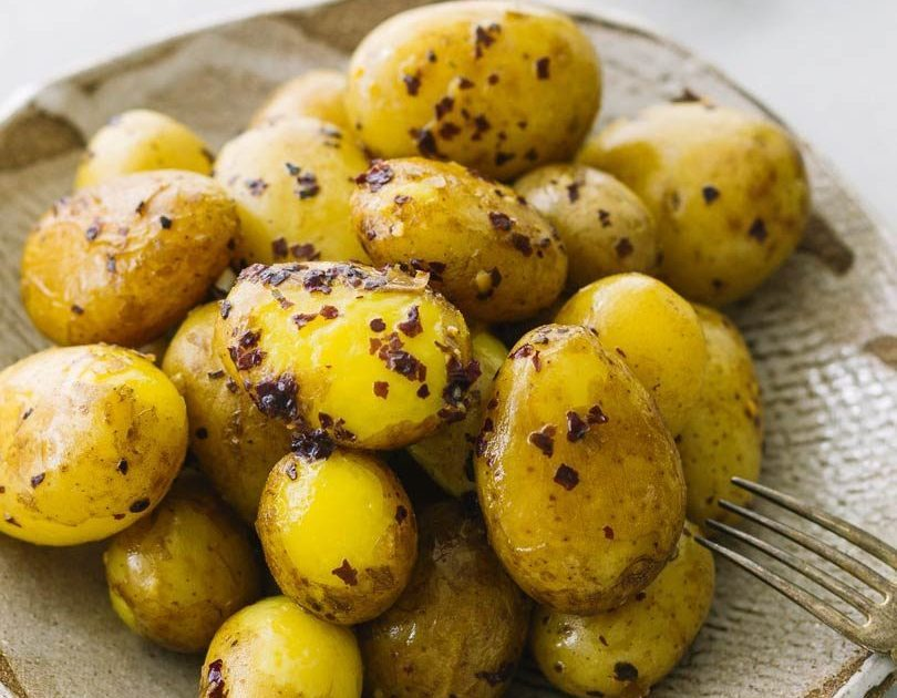 BABY POTATOES WITH DULSE BUTTER