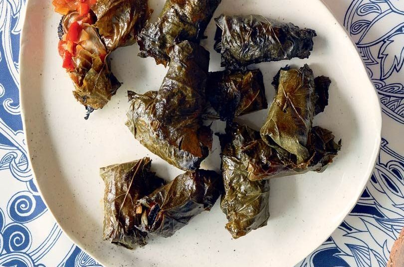 MUSSELS IN GRAPE LEAVES