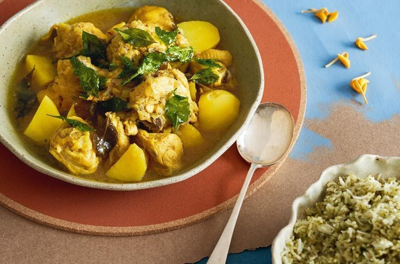 TAMARIND CHICKEN CURRY WITH CURRY-LEAF RICE