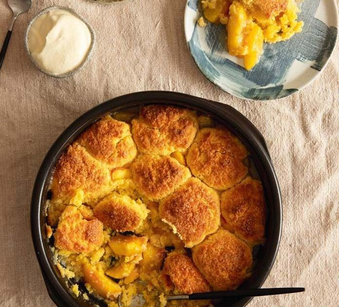 PEACH, GINGER & STAR ANISE COBBLER