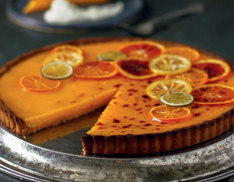 FIVE-SPICE CITRUS TART WITH WHIPPED, SWEET MASCARPONE
