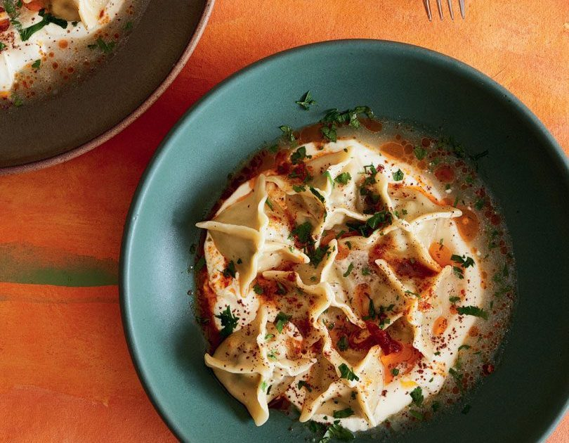 LAMB MANTI WITH YOGHURT & SUMAC