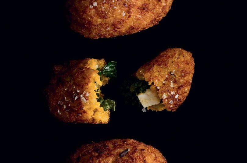 PUMPKIN KIBBEH STUFFED WITH FETA & SPINACH