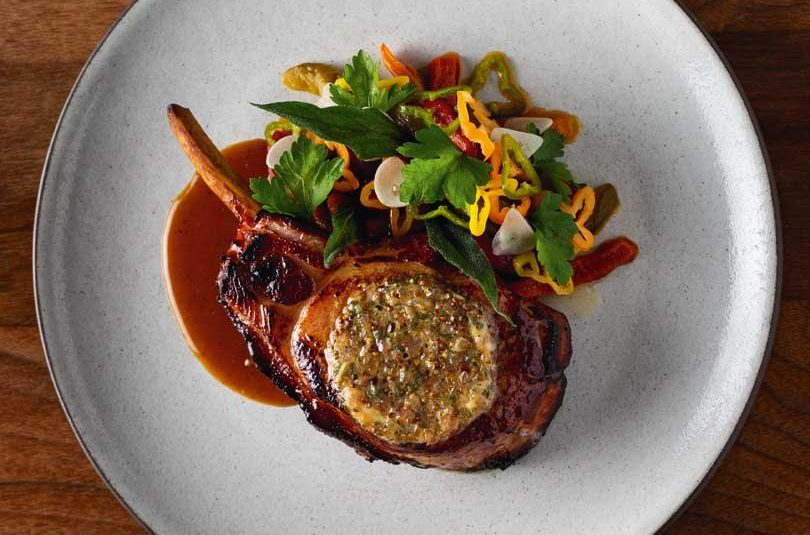 PORK CHOPS WITH SAGE BUTTER