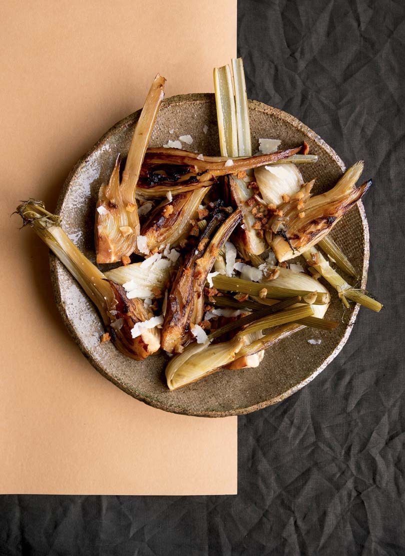 CHARRED & BRAISED FENNEL WITH CRUMBS