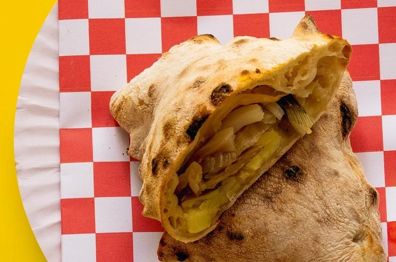 CALZONE: POTATO, GARLIC, PICKLED FENNEL & LEMON OIL