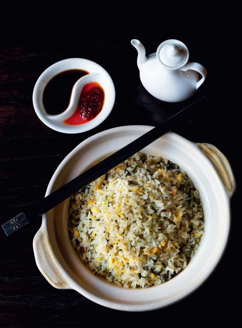 FRIED RICE WITH EGG & PRESERVED OLIVE VEGETABLES