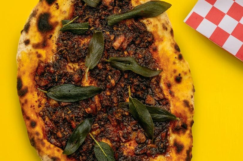 MUSHROOM 'NDUJA, HONEY & CRISPY SAGE PIZZA