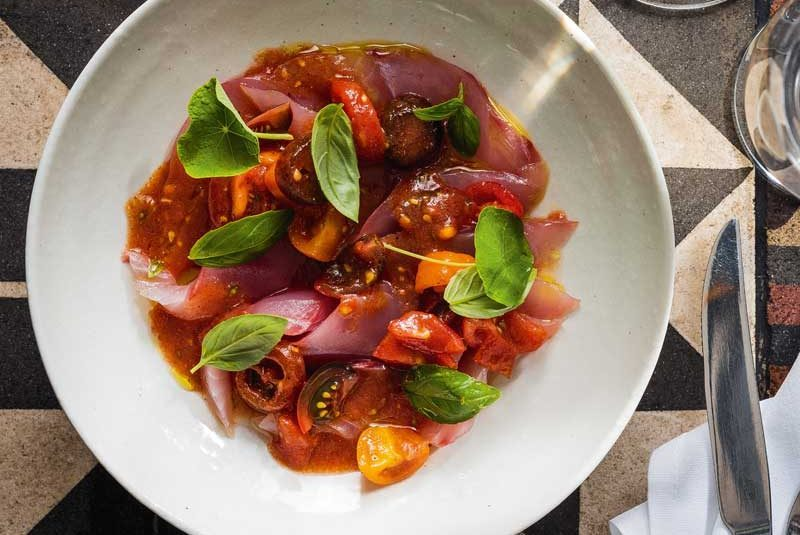 KAHAWAI WITH SMOKED- TOMATO DRESSING