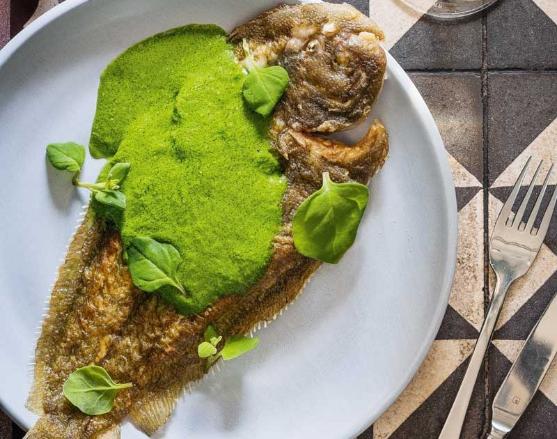 SOLE WITH COASTAL GREEN SAUCE
