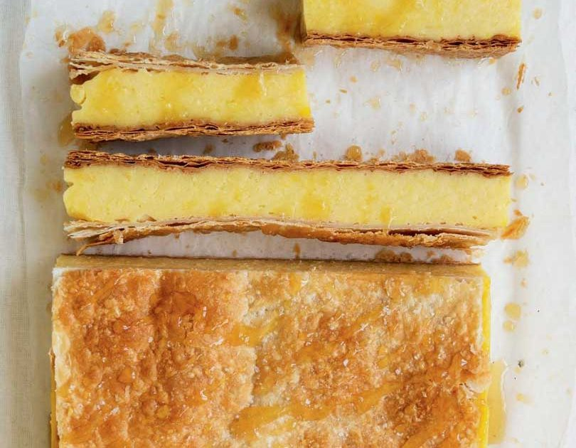 HONEY CUSTARD SQUARES