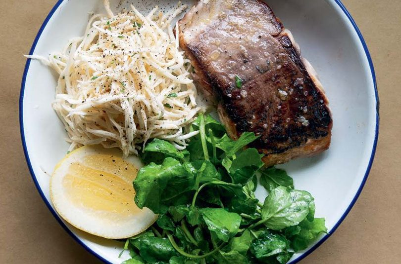 PAN-FRIED KAHAWAI WITH CELERIAC REMOULADE