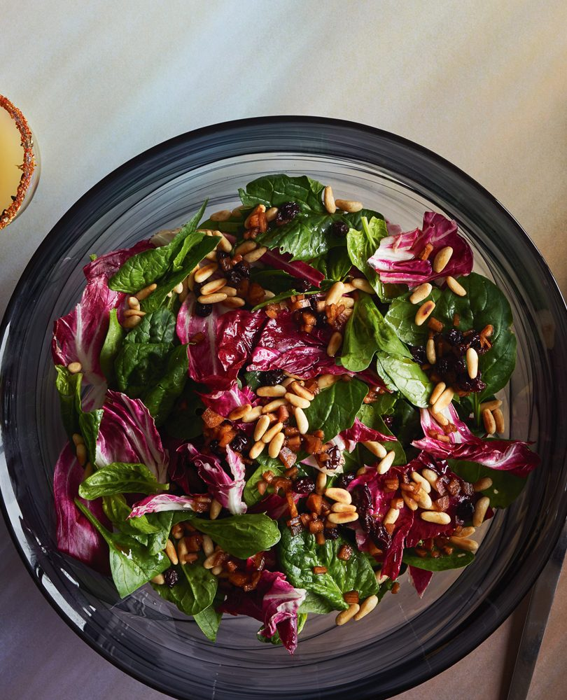 SPINACH & RADICCHIO SALAD WITH AGRODOLCE