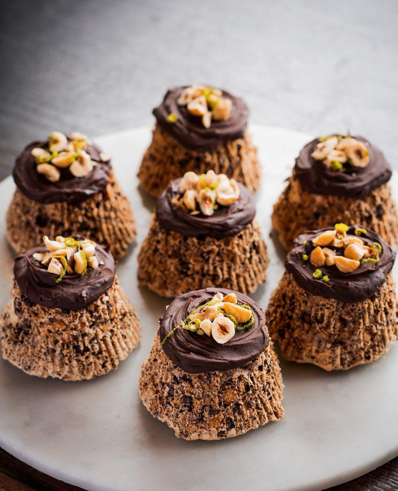 HAZELNUT, CHOCOLATE & LIME TORTES
