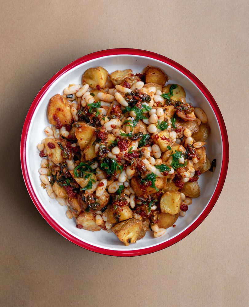 ROASTED POTATOES & CANNELLINI BEAN SALAD