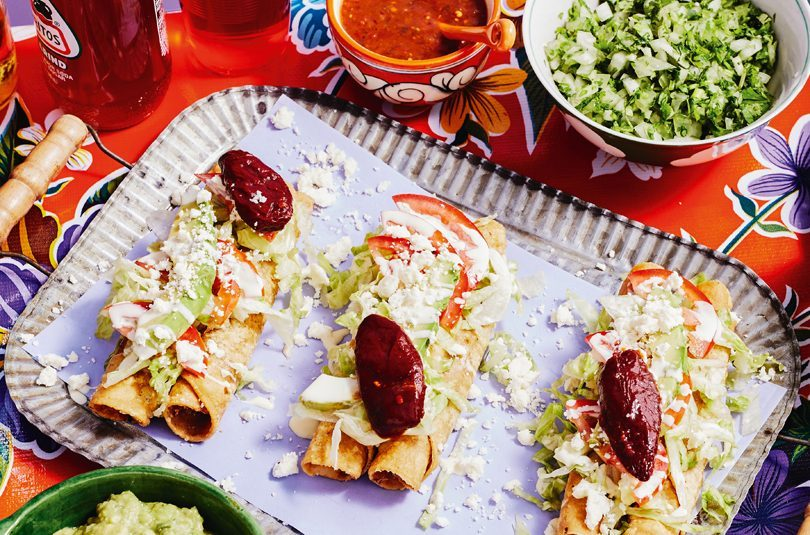 FLAUTAS (ROLLED DEEP-FRIED TACOS)