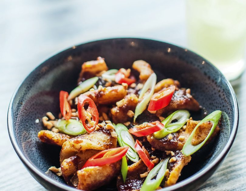 SAUCY BOYS SQUID, XO SAUCE, PEANUT, SPRING ONION & CHILLI