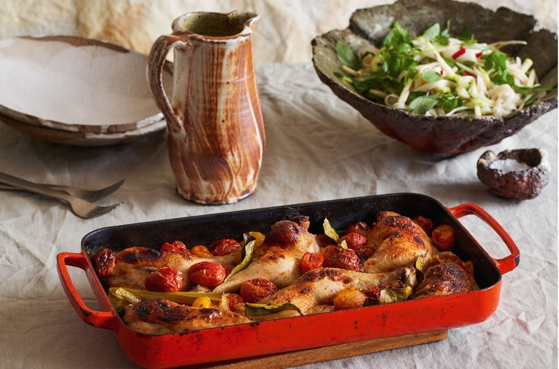CHICKEN TRAY BAKE WITH TOMATOES & SOUTHEAST-ASIAN FLAVOURS