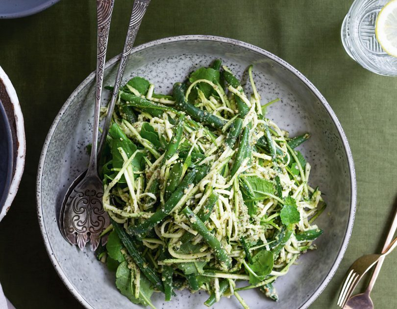 GREEN | KĀKĀRIKI ZUCCHINI & GREEN BEAN SALAD WITH PUMPKIN SEED & CORIANDER DRESSING