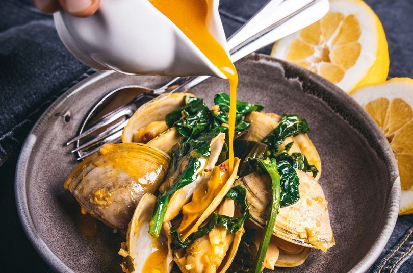 CLOUDY BAY CLAMS, WAKAME, CITRUS & CHILLI