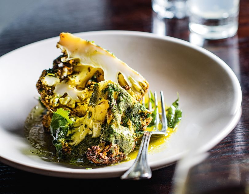 CAULIFLOWER SLOW ROASTED IN SEAWEED BUTTER, TURMERIC & CURRY LEAVES