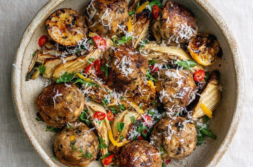 LEMON & FENNEL MEATBALL BAKE