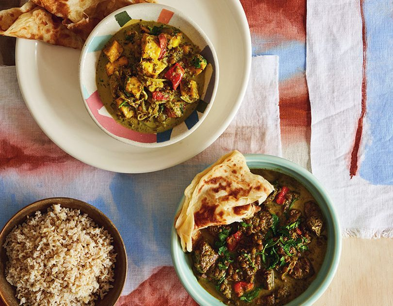 LAMB, GREEN LENTIL & SPINACH CURRY / PANEER, GREEN LENTIL & SPINACH CURRY